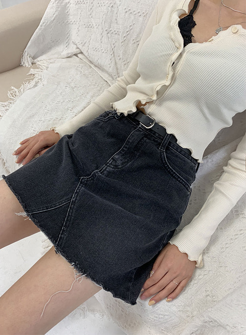 black denim sk (3sizes!) 당일발송