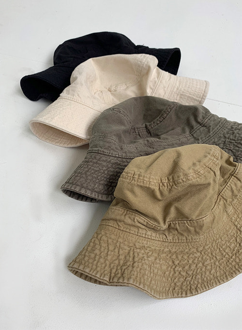 washing bucket hat (5colors!)
