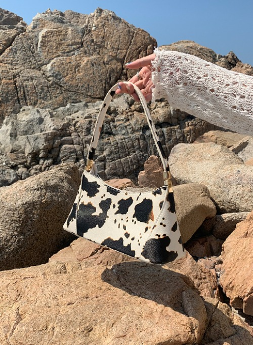 cow gold tote bag
