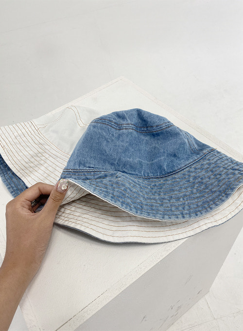 denim double sided hat