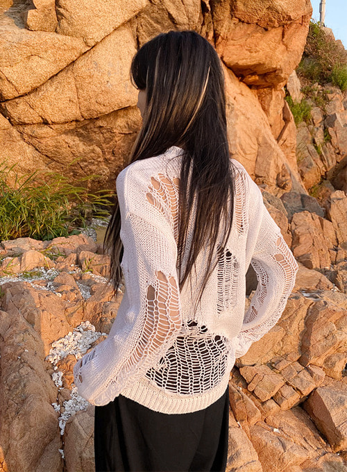 net loose fit knit