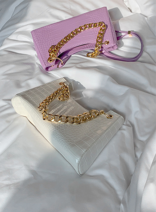 croc gold chain bag(2colors) 당일발송