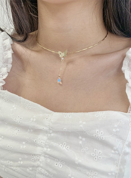butterfly drop necklace