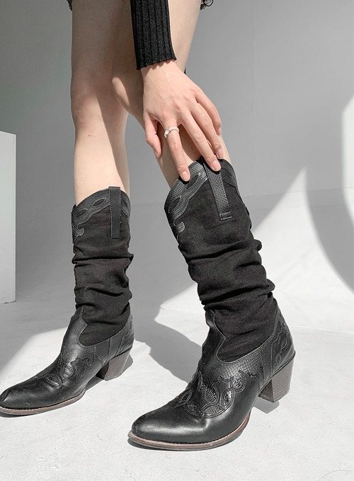 western wrinkle boots (2colors!)