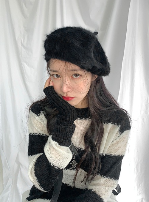 cozy angora beret (2colors!)