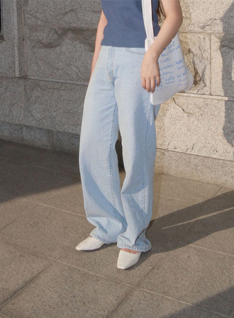 wide denim pt (2colors!)