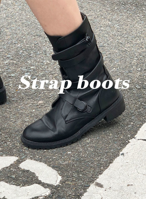 straight strap boots