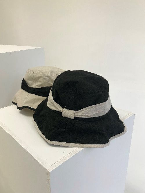 side ribbon bucket hat (2colors!)