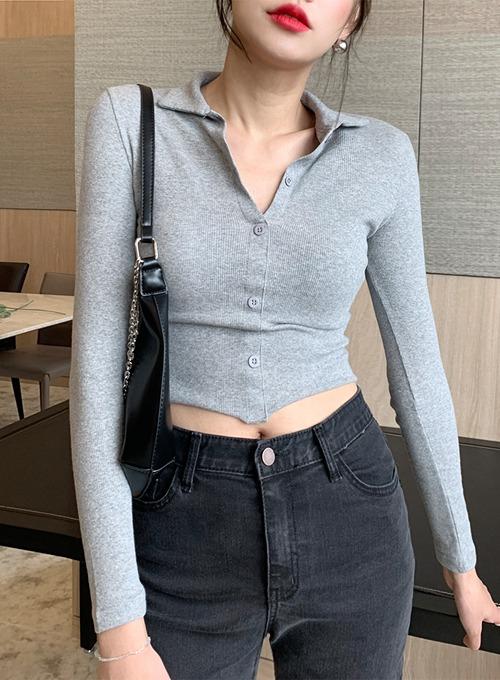 collar button top (2colors!)