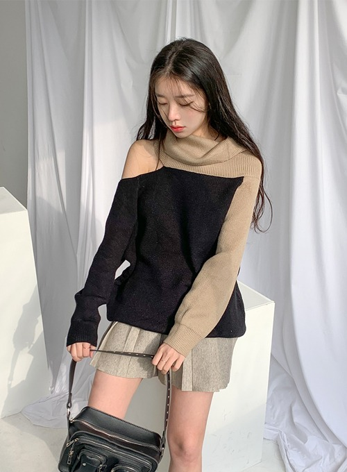 turtle neck hole knit