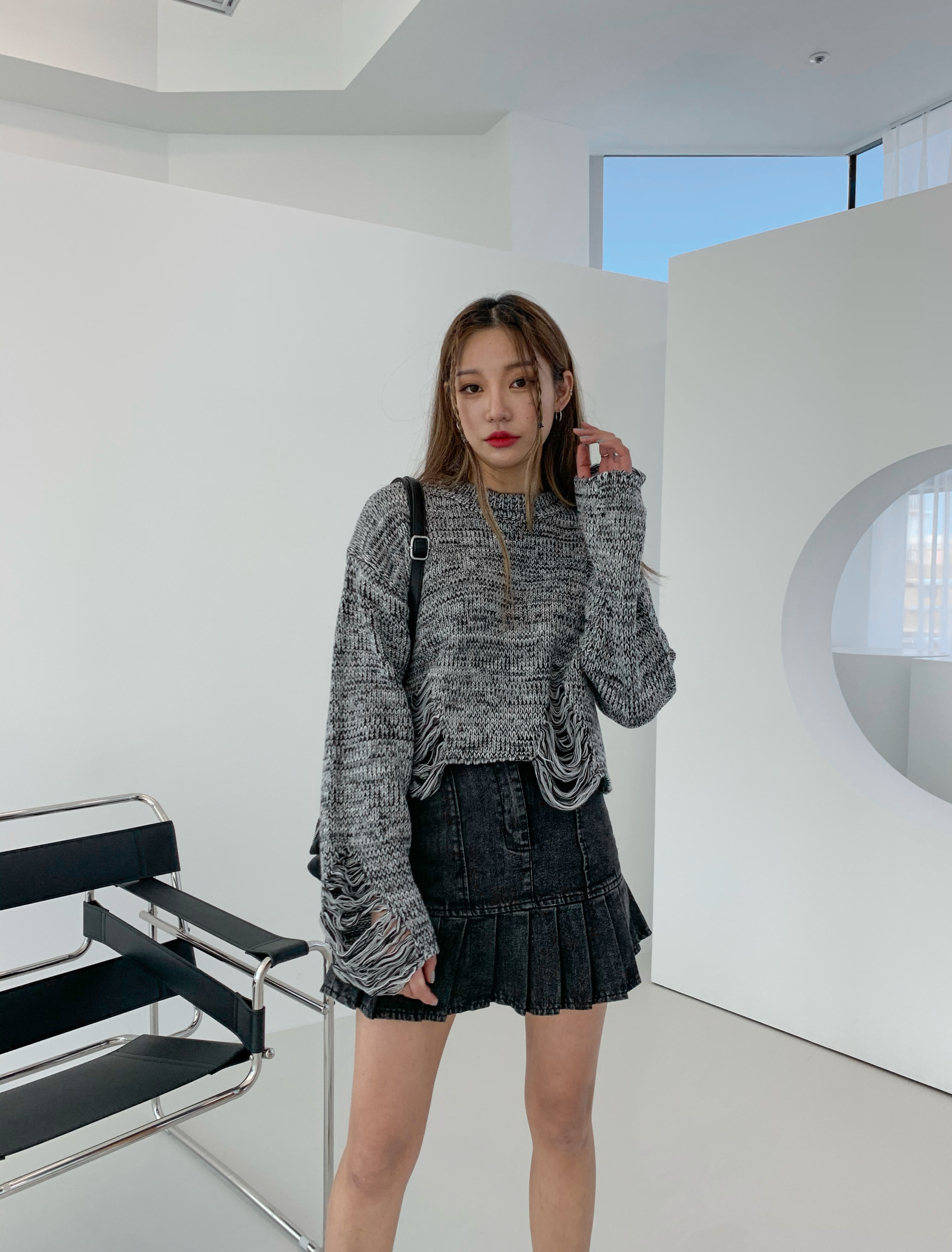 bokashi damaged knit 당일발송