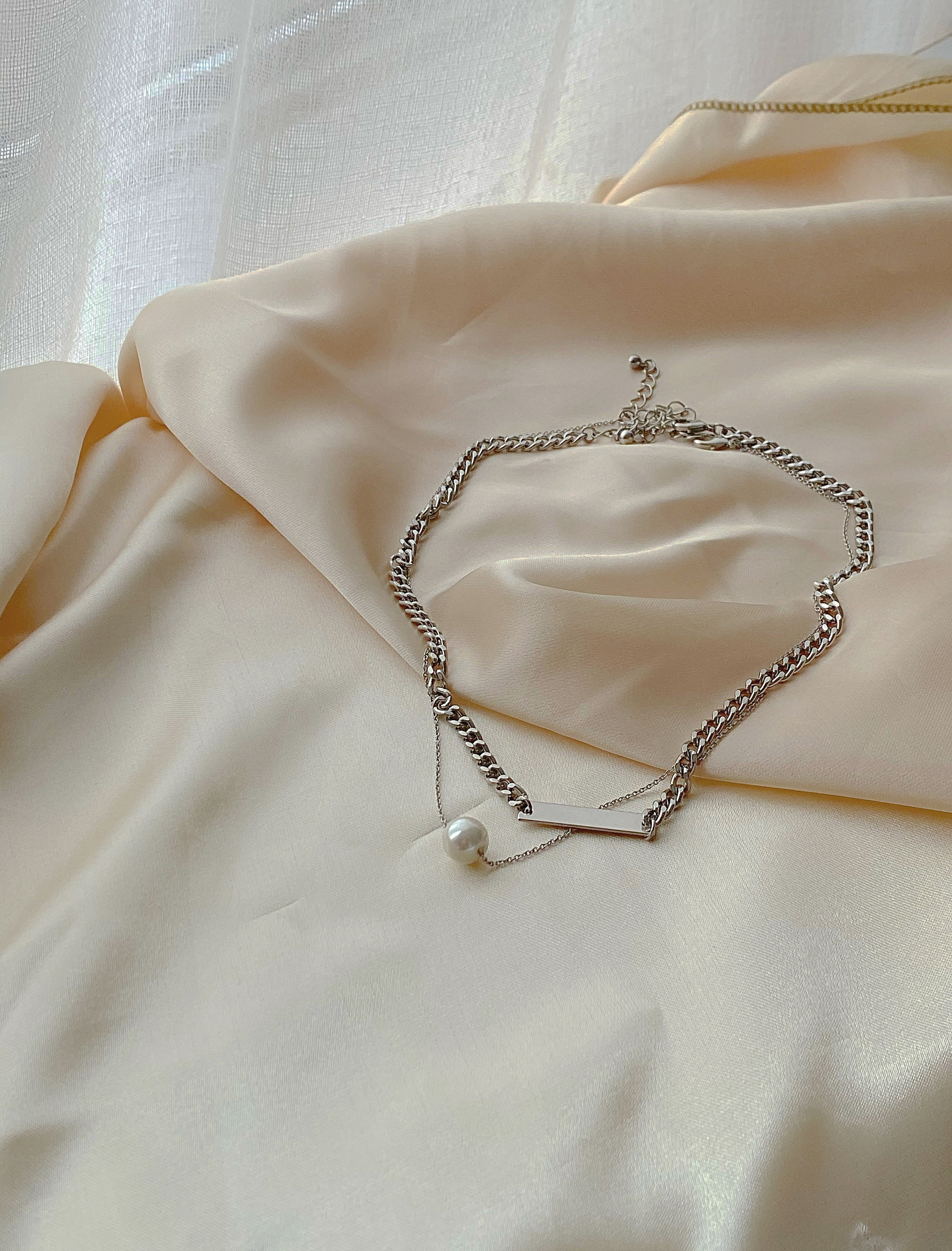 chain pearl set necklace