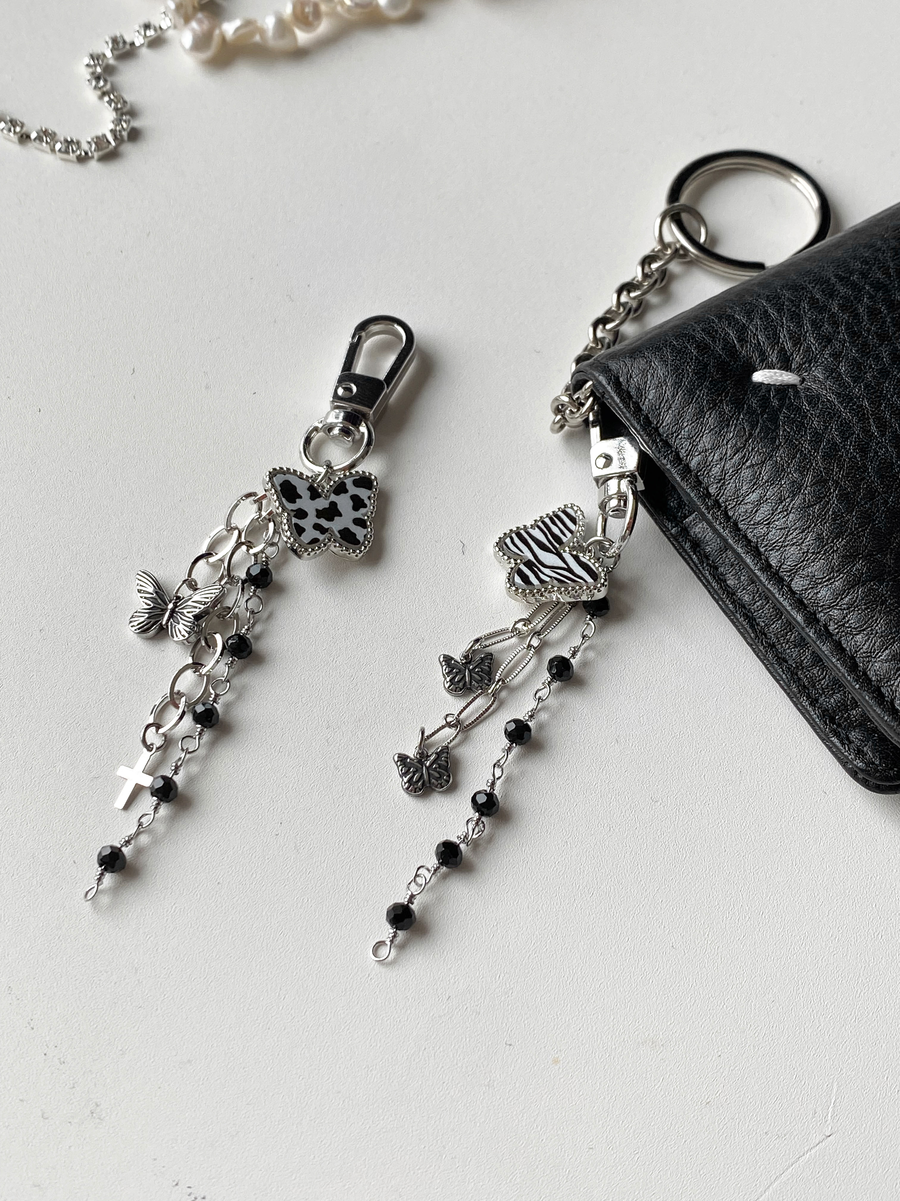 animal butterfly keyring